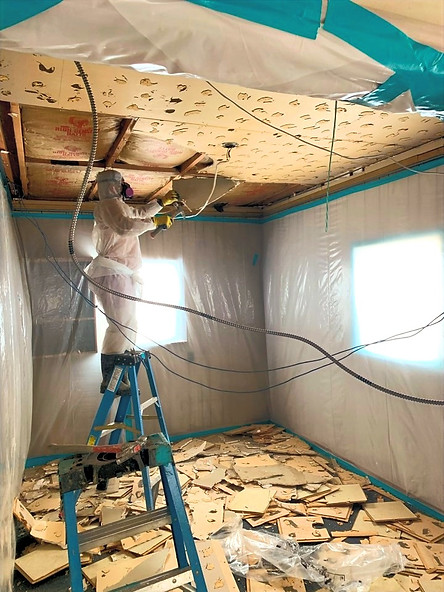 Removal of Asbestos Containing Ceiling Tiles