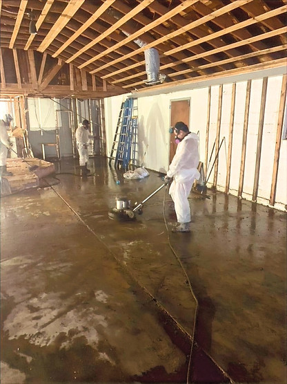 Removal of Sheettock and Floortile