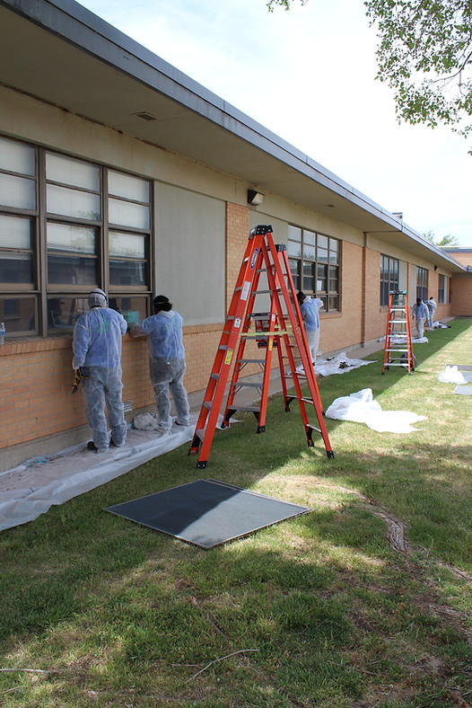 Removal of Asbestos Containing Window Chaulk from School Windows