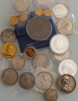 Coins Medals Medallions Gold Silver