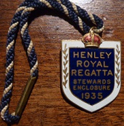 HRR Henly Regatta enamel badge 1924