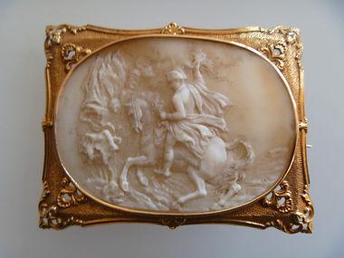 Antique shell cameo. Napoleon On Horseback