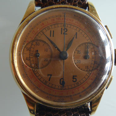 14k Gold Chronograph Wristwatch