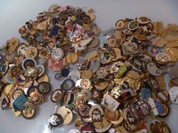Enamel Enamelled badges collection
