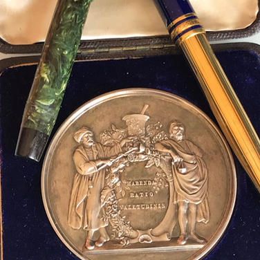 Antique Gold & Silver Medals, Medallions . Fountain pens always wanted.