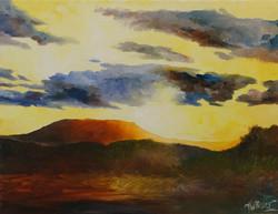 Sunset over housemountain 1