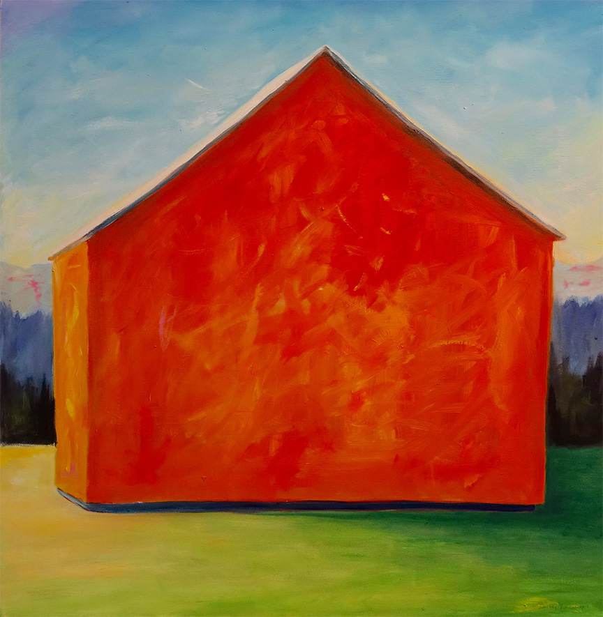 Dorothy Blackwell Red Barn -Oils