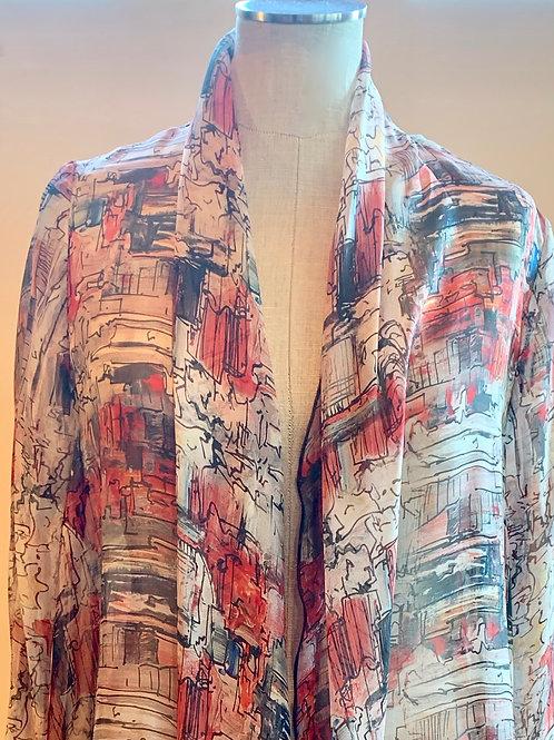 Von Troska Cathy Printed Silk Jacket
