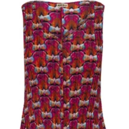 Alquema Estrella Printed Pleated Dress