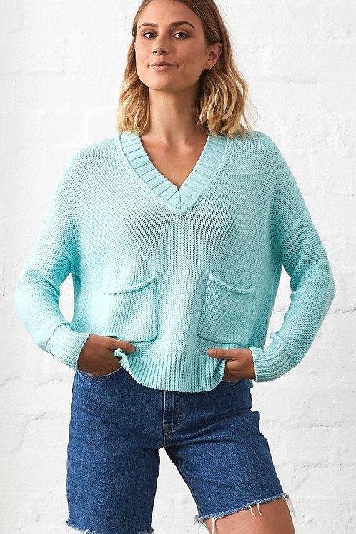 Z & P Abigail Chunky V-Neck Knit