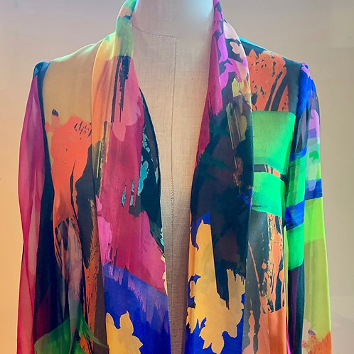 Von Troska Cathy Printed Silk Jacket
