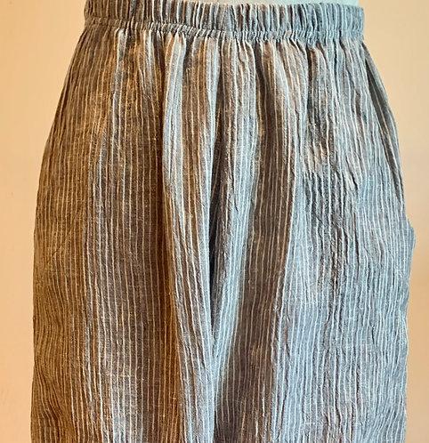 Von Troska Twin Yarn Dyed Stripe Linen Pant