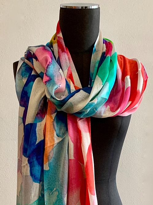 Directions Paint Ball  Modal Silk Scarf