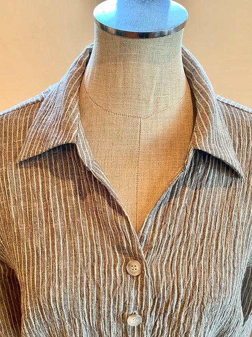 Von Troska Cristale Yarn Dyed Stripe Linen Shirt
