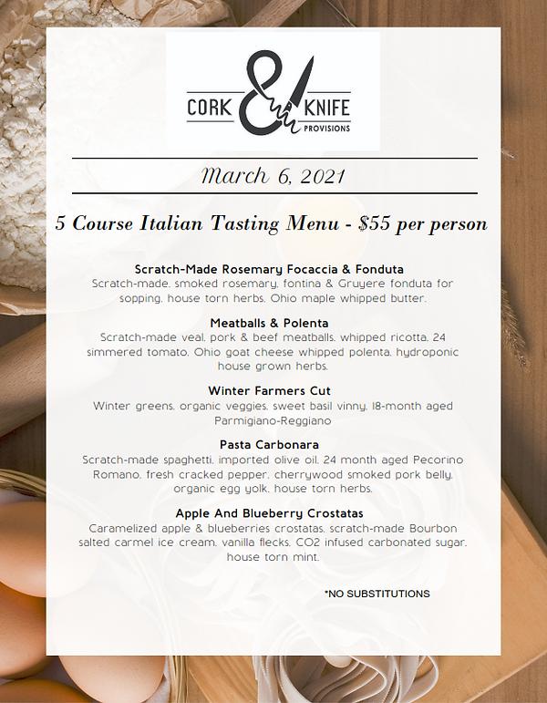 5 Course Italian Tasting Menu March_001.