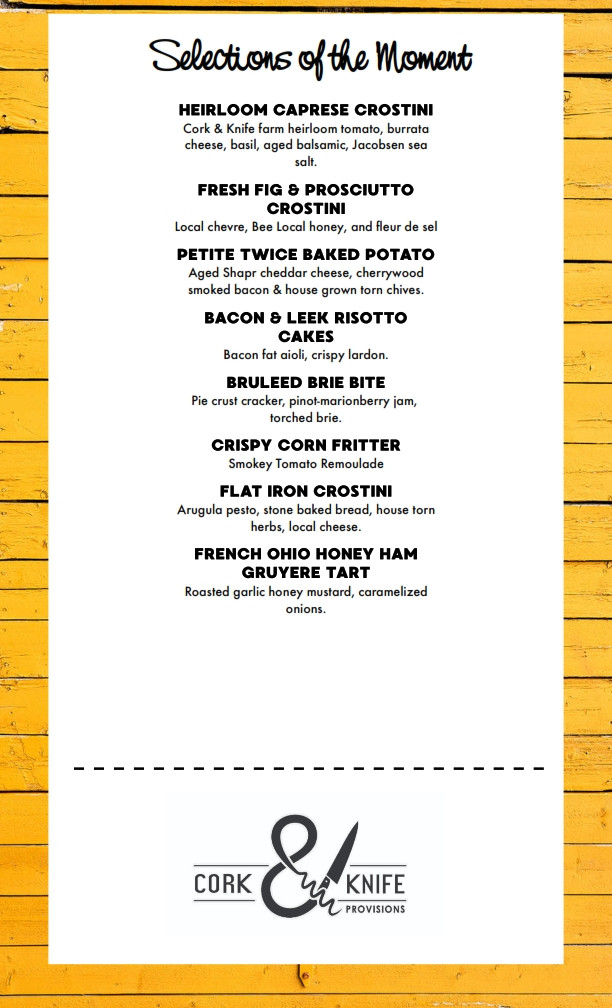 Selections of the Moment Menu