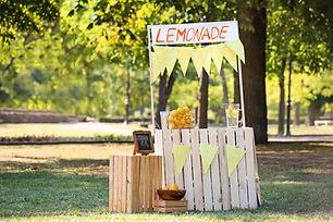 Wooden lemonade stand in park on sunny summer day.jpg