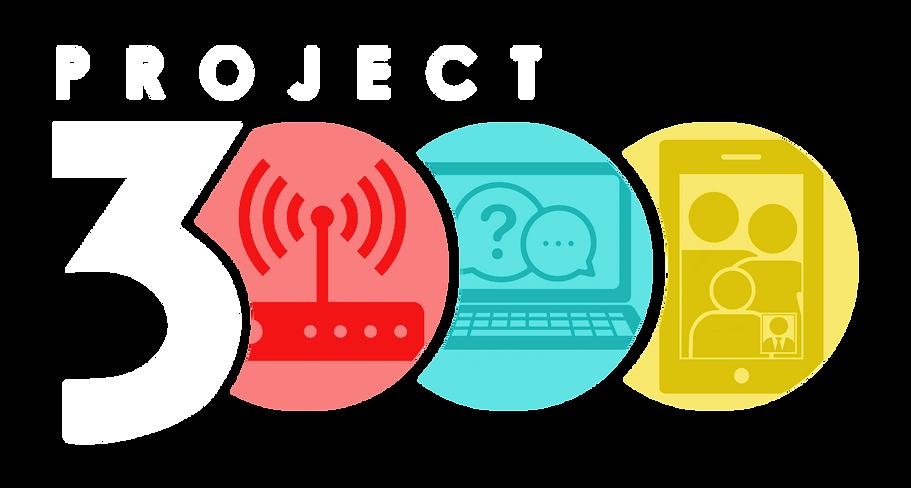 Project 3000 Logo WHITE COLOR TRANSPAREN