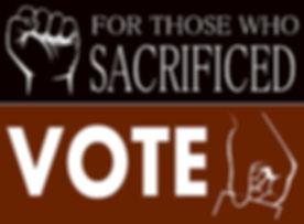 For Those Who Sacrificed Votoe 2018 Logo