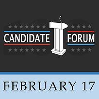 February 17 Candidate Forum SQUARE Logo.