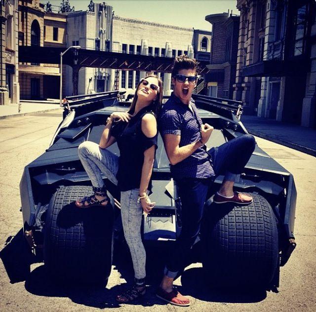 Joey graceffa iJustine batmobile.jpg