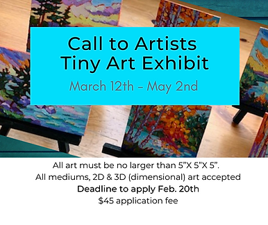 Call to Artists enter_ tiny ART group sh