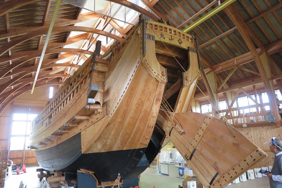 Sengoku-bune is a big sailing ship, which used to navigate along the coast of the Sea of Japan.