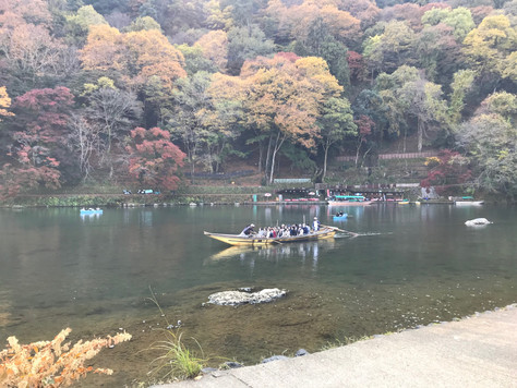 """Hozugawa-kudari"" in Kyoto is Japan's oldest boat tour."