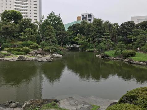 The former Yasuda Teien in Ryogoku, Tokyo, originally was a garden of a daimyo feudal lord.