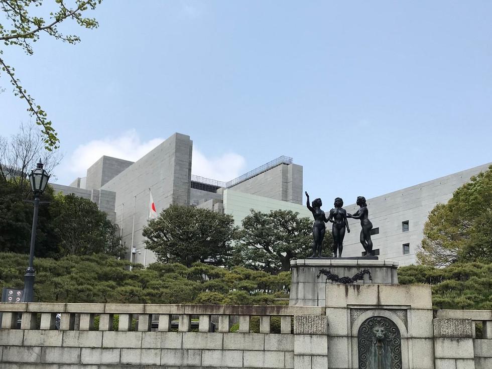 The Supreme Court and Heiwa-no-Gunzo in Chiyoda-ku, Tokyo.