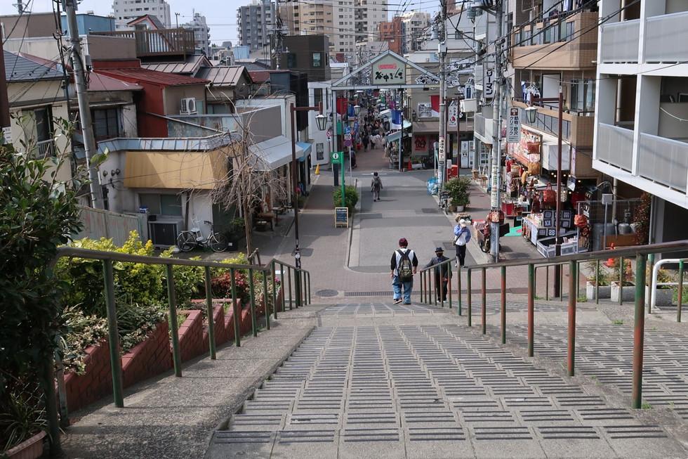 """""""Yanaka-Ginza"""" with """"Yuyake-dandan"""" in Taito-ku, Tokyo."""