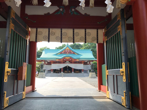 Hie Shinto Shrine in Chiyoda-ku, Tokyo, used to be a tutelary shrine of Edo Castle.