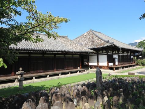 Ganko-ji Buddhist Temple in the heart of Nara City originally was Asuka-dera in Asuka Village.