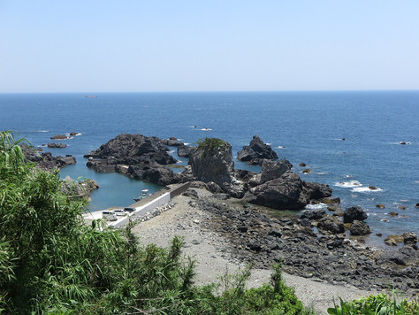 The Shio-no-Misaki Lighthouse stands at the southernmost tip of Honshu, the main island of Japan.