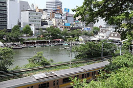 The outer moats of old Edo Castle are utilized in many ways.