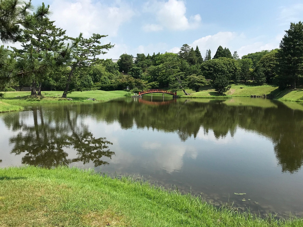 The old gardens of Daijoin Buddhist Temple in Nara City formed the basic style of Japanese gardens.