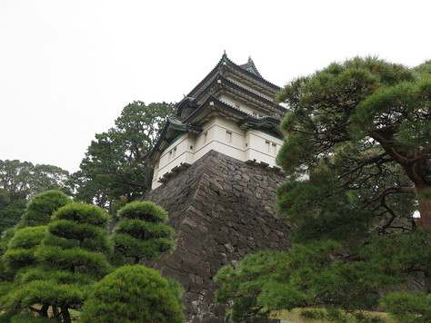 'Fujimi-yagura' tower is standing in the southeast corner of the main enclosure of old  Edo Castle.
