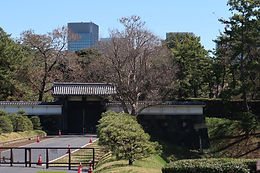 """""""Hanzo-mon"""" gate of old Edo Castle in Tokyo was the special gate just for evacuation."""