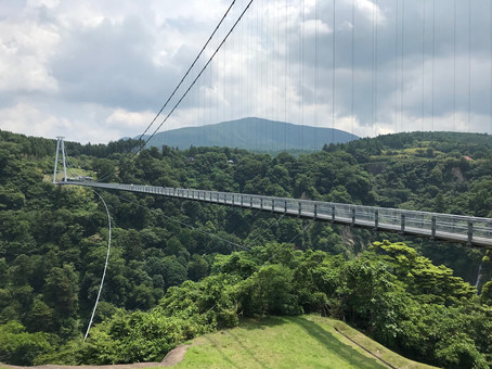 "Kokonoe ""Yume"" Otsurihashi in Oita Prefecture is Japan's highest pedestrian bridge."