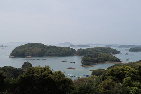 """Kujukushima"" in Nagasaki Prefecture is a group of small islands dotted along by a rias coast."