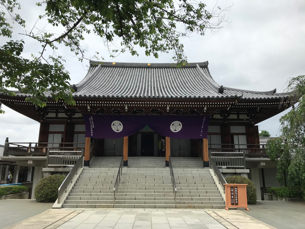 Denzuin Buddhist temple in Bunkyo-ku, Tokyo, was the family temple of the Tokugawa shogun's family.