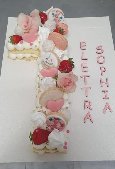 Cream tart primo compleanno
