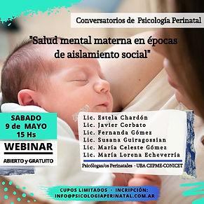 WEBINAR Salud Mental Materna y Aislamien
