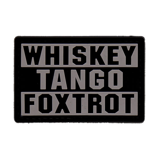 Whiskey Tango Foxtrot Rubber Morale Patch