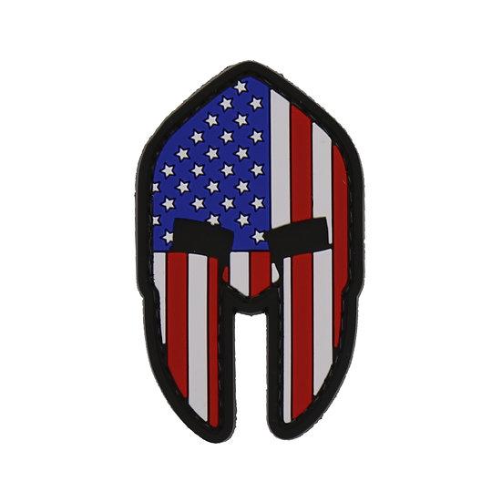 Spartan Helmet Flag Rubber Morale Patch