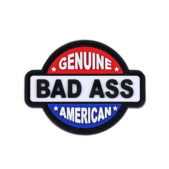 Genuine American Badass Rubber Morale Patch