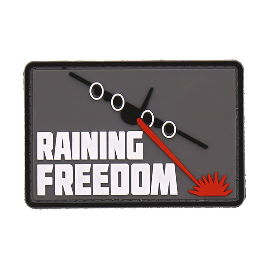 Raining Freedom Rubber Morale Patch