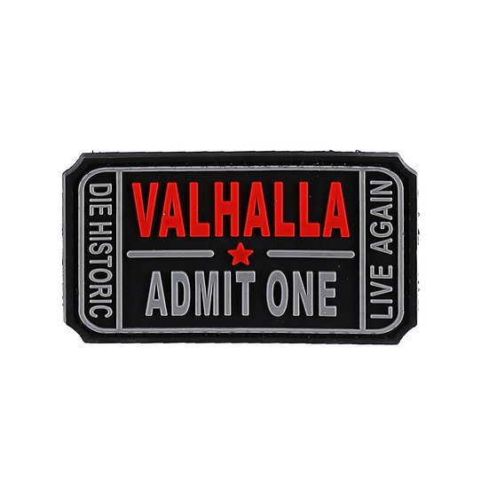 Valhalla Admit One Rubber Morale Patch