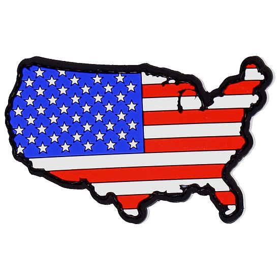 US Flag Map Rubber Morale Patch
