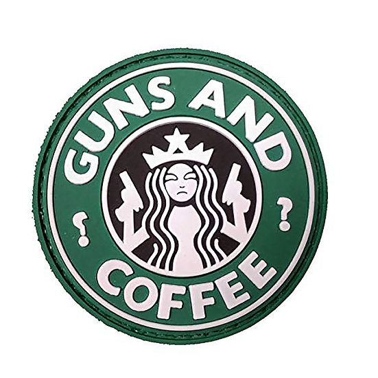 Guns N Coffee Rubber Morale Patch